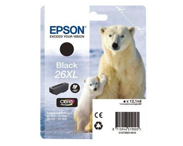 Epson 26XL Claria Premium Ink Photo - Svart