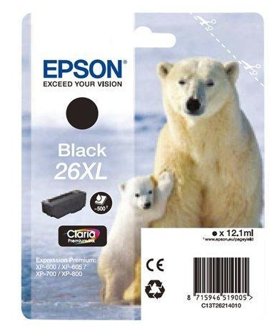 Epson 26XL Claria Premium Ink Black
