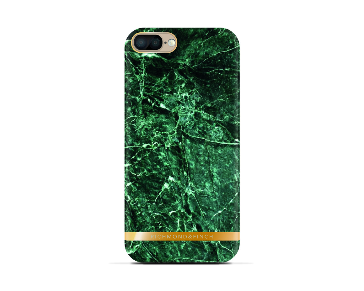 R&F för iPhone 7 Plus -  Green Marble Glossy