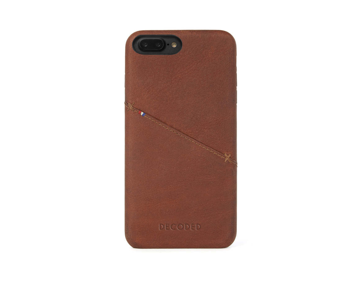 Decoded - Leather Back Cover för iPhone 6/6S/7 Plus - Brun