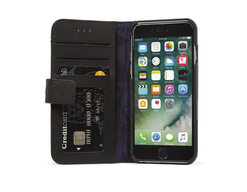 Decoded - Leather Wallet Case Magnet för iPhone 7 - Svart
