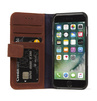 Decoded - Leather Wallet Case Magnet för iPhone 7 - Brun