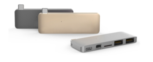 Hyper - USB-C 5-in-1 Hub - Gray - miniDP