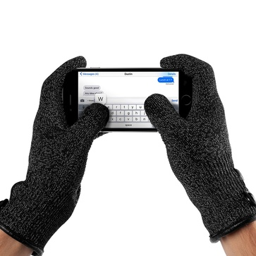 Mujjo Double-Layered Touchscreen Gloves  Small - Svart