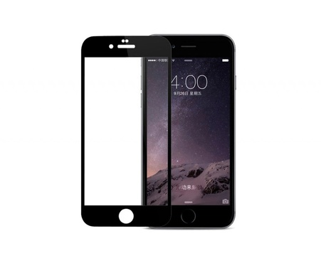 Pomologic - Curved Tempered Glass Screen Protector iPhone 7 -  Black