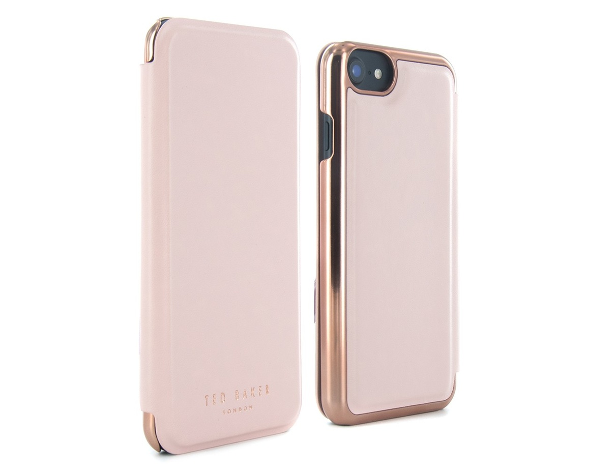 Ted Baker - Mirror Folio Case for iPhone 7 - Shannon - Pale Apricot
