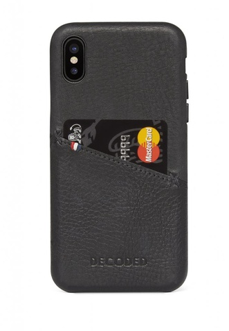 Decoded- Leather Back Cover för iPhone X Black