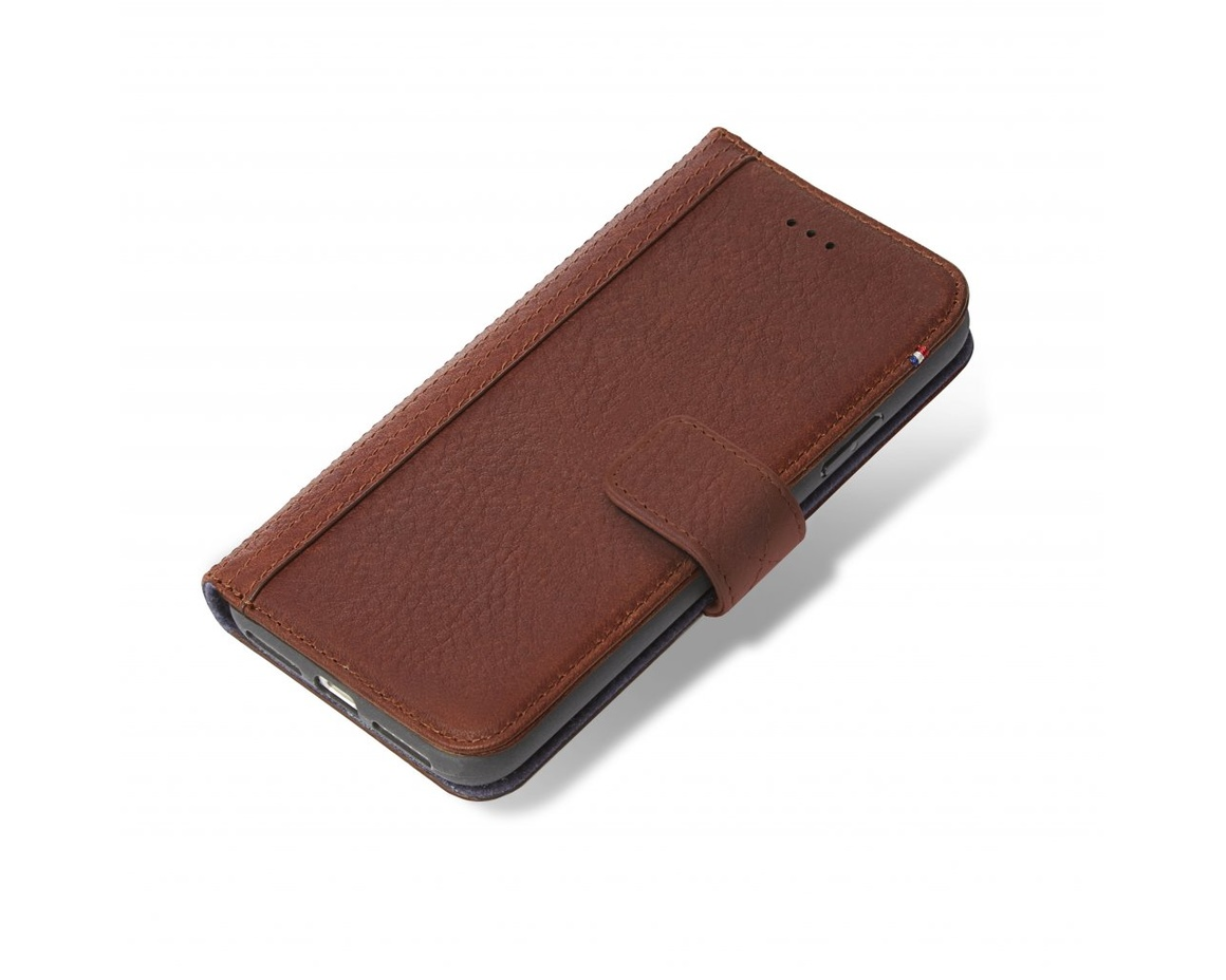 Decoded - 2 in 1 Leather Wallet Case Magnet för iPhone XR - Brun