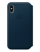 Apple iPhone X Läderfodral - Kosmosblå