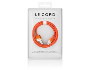 LE CORD Lightning till USB Kabel 1m - Aquarells Orange