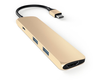 Satechi Slim USB-C MultiPort Adapter 4K - Guld