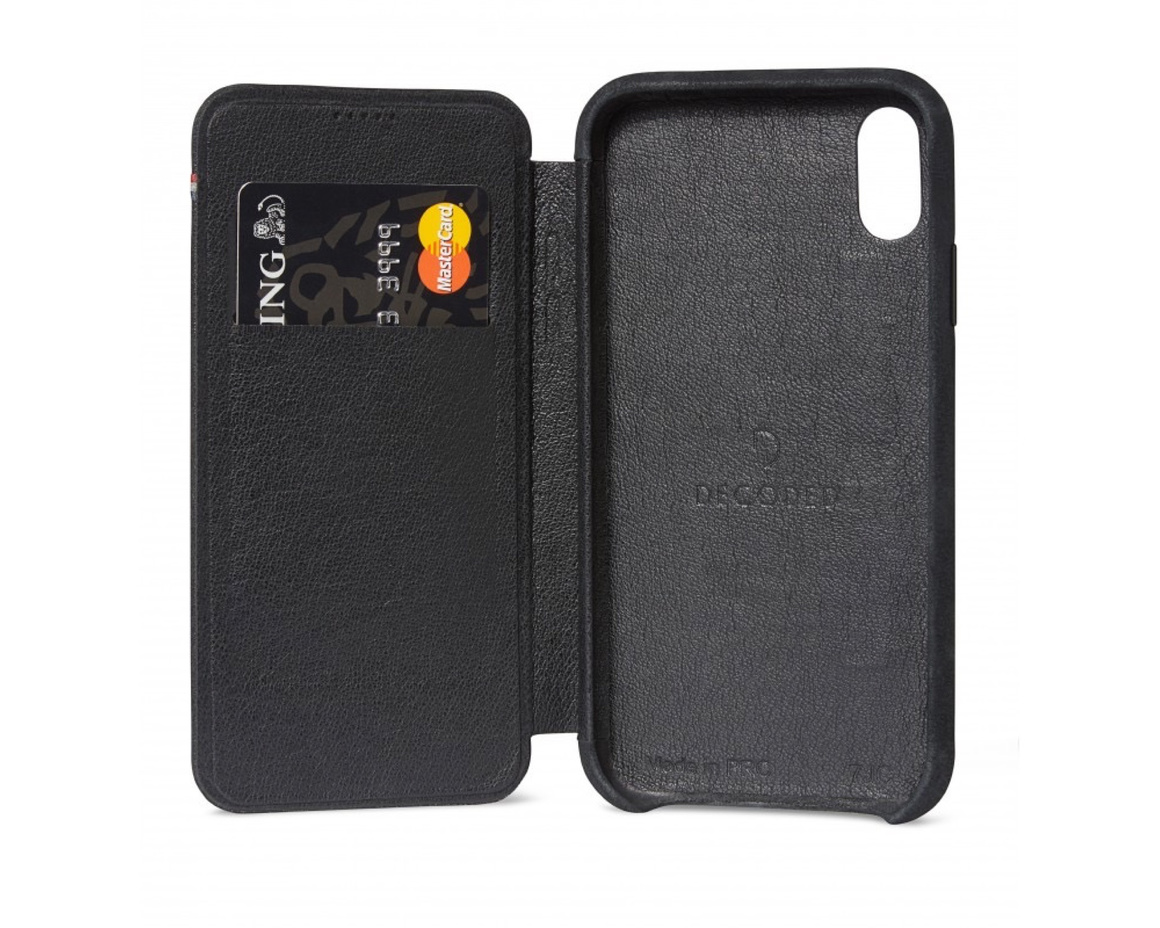 Decoded - Slim Leather Wallet Case för iPhone XS Max - Svart