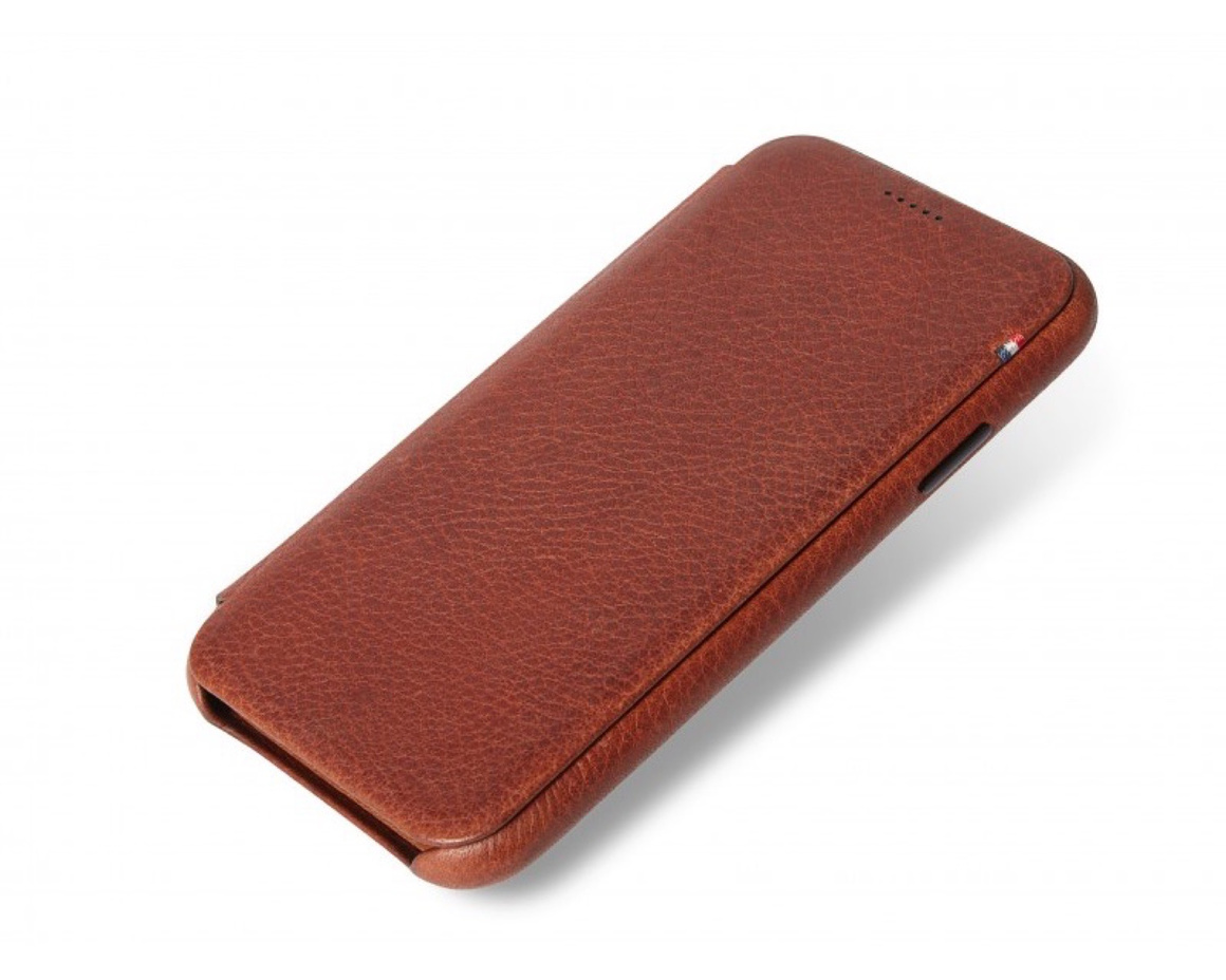 Decoded - Slim Leather Wallet Case för iPhone XS Max -Brun