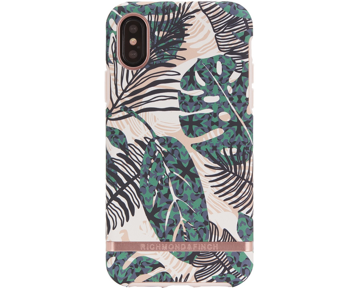R&F - Tropical Leaves - Gold Rose details för iPhone X