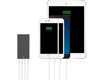 Native Union Smart Charger Four USB Slate