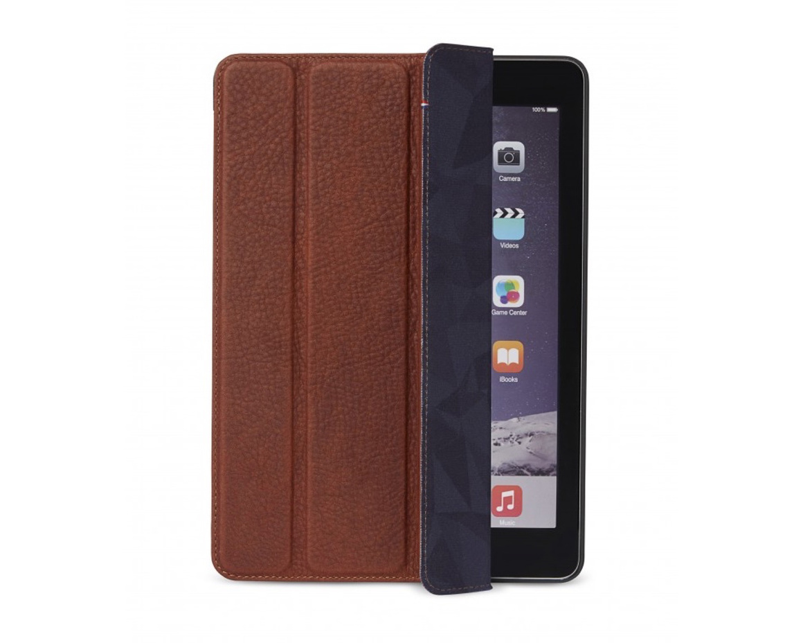 Decoded - Leather Slim Cover for iPad 2017/2018 - Brun