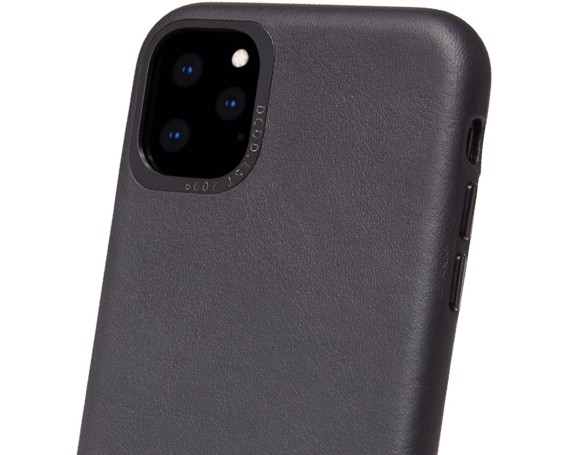 Decoded Full Grain Leather Backcover för iPhone 11 Pro - Svart