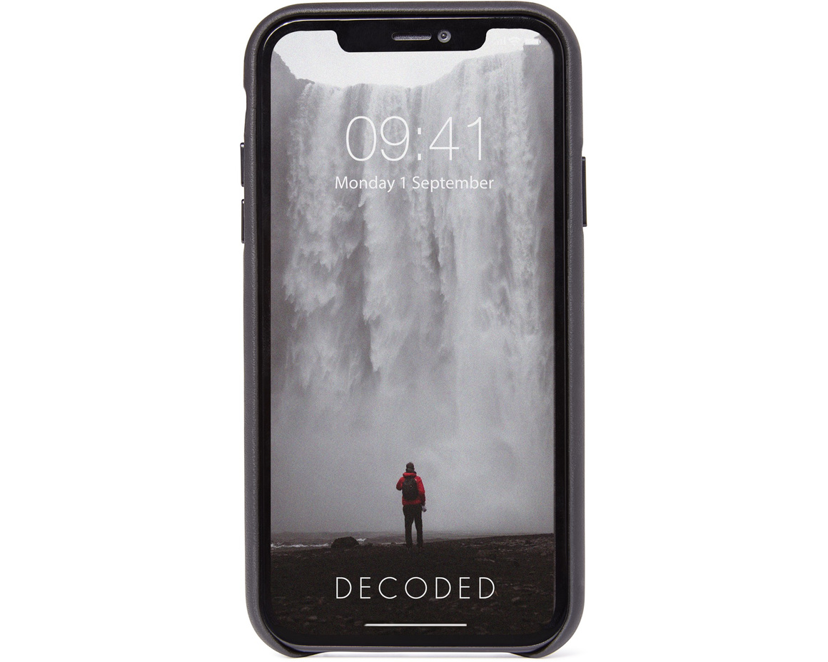 Decoded Full Grain Leather Backcover för iPhone 11 Pro Max - Svart