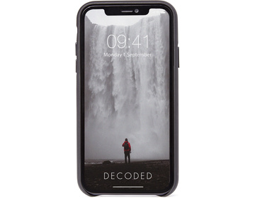 Decoded Full Grain Leather Backcover för iPhone 11 - Svart