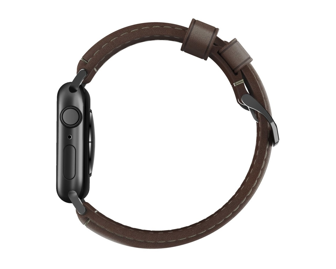 Nomad - Traditional Strap - 44mm/42mm - Black Hardware - Rustic Brown Leather