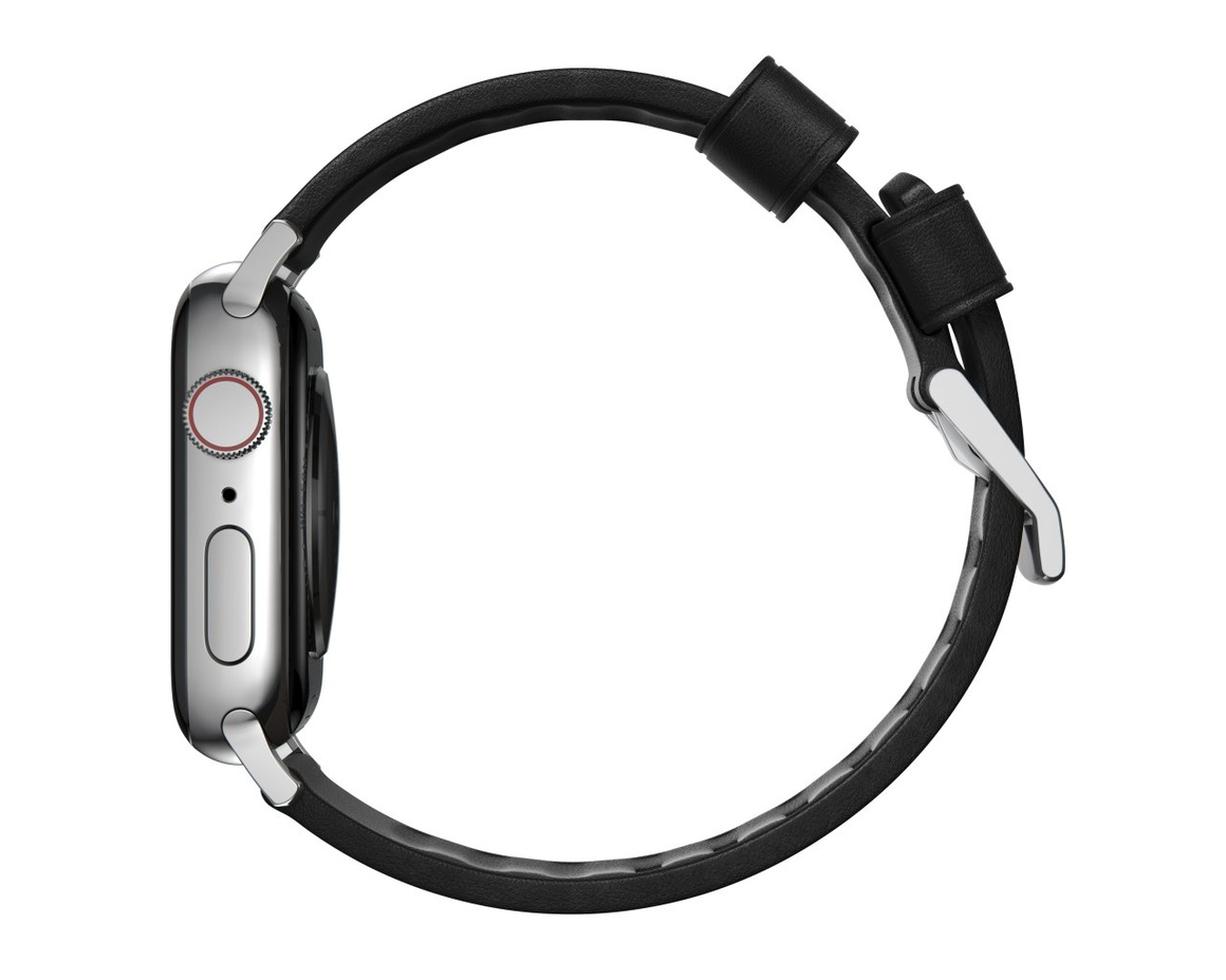 Nomad Modern Strap - 44mm/42mm | Black Active Leather | Silver Hardware