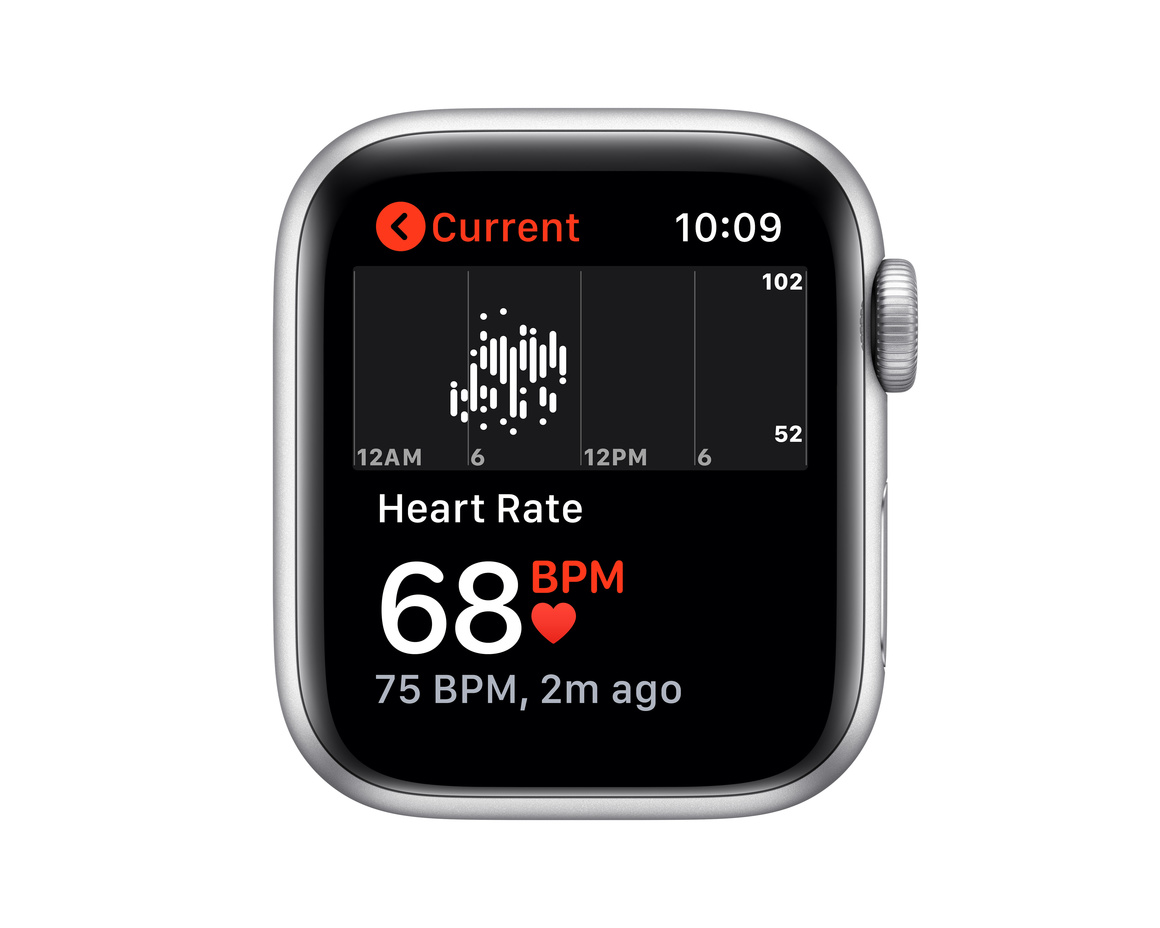 Apple Watch SE GPS 40mm Aluminiumboett i Silver med Vitt Sportband - Regular
