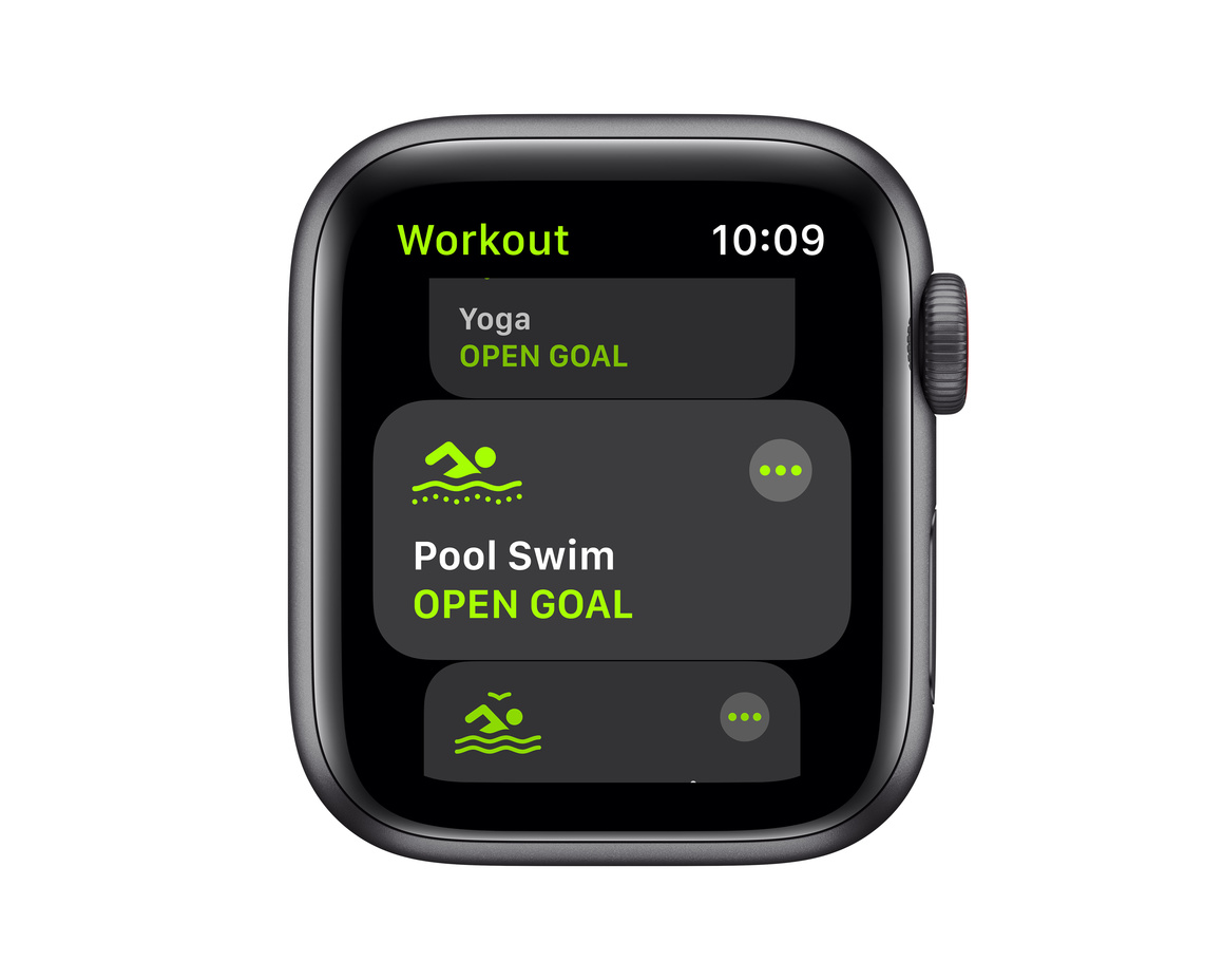 Apple Watch SE GPS + Cellular 40mm Aluminiumboett i Rymdgrått med Svart Sportband - Regular
