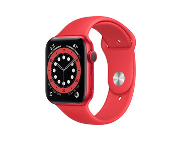 Apple Watch Series 6 GPS 44mm Aluminiumboett i PRODUCT(RED) med PRODUCT(RED) Sportband - Regular