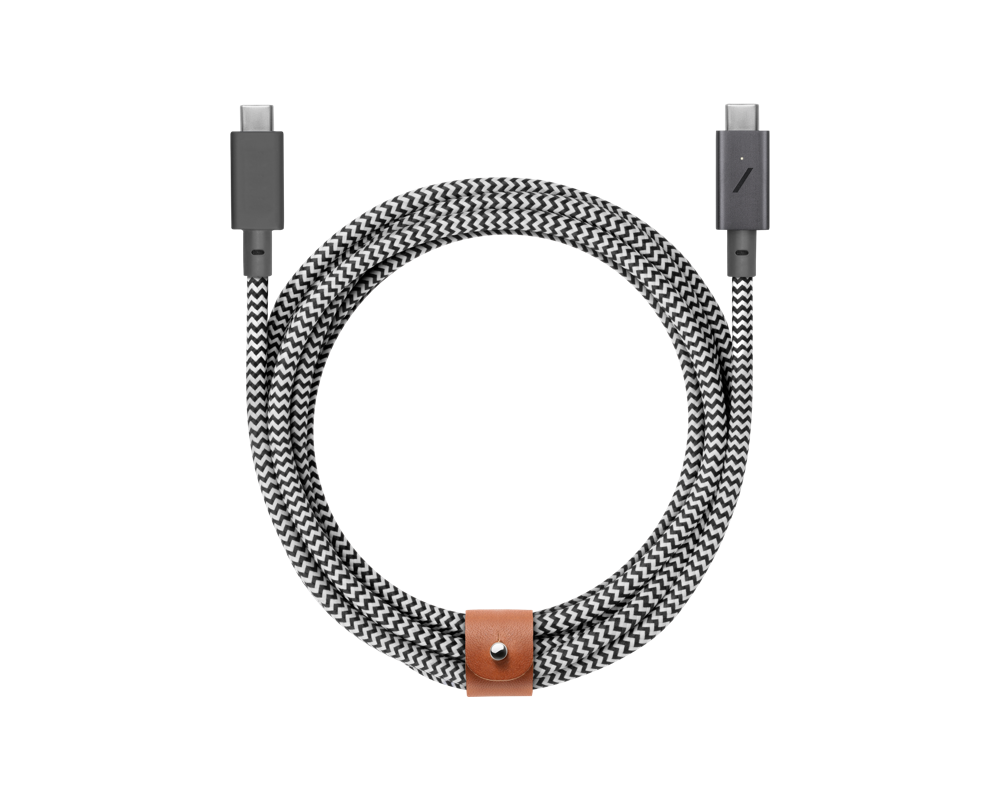 Native Union Belt Cable USB-C till USB-C - 2,4m Zebra