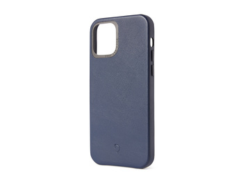 Decoded - Leather Backcover för iPhone 12 mini Navy