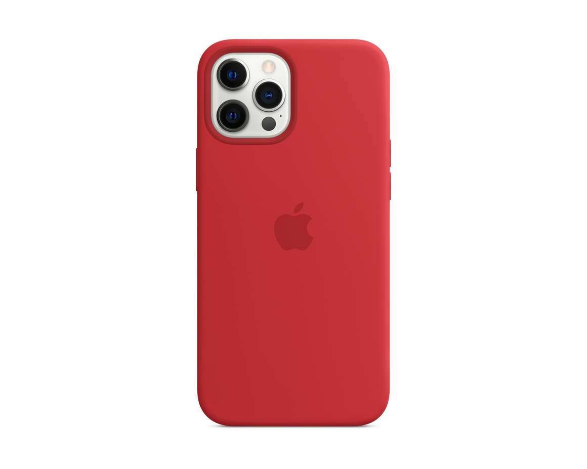 Apple iPhone 12 Pro Max Silikonskal med MagSafe (PRODUCT)RED